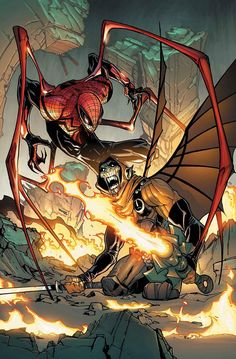 Superior Spider-Man Vol 1 #15 - Pencilers by Humberto Ramos / Ink by Victor Olazaba / Colourists by Edgar Delgado
