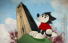Go Wolfpack! NC State University toons by Mark McLawhorn https://www.facebook.com/markmclawhorn.art