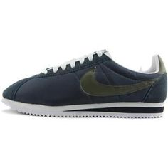 Men Nike Cortez Oxford Cloth Shoes Carbon Blue Gray