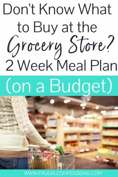 Need a grocery list for two weeks of meals, on a budget? I'll share our two week meal plan, grocery list (free PDF) plus how to buy groceries for two weeks. Weekly Grocery Lists, Meal Plan Grocery List, Shopping List Grocery, Grocery Store, Shopping Tips, Weekly Menu, Online Shopping, Save My Money, Save Money On Groceries