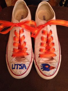 Roadrunners UTSA converse by TiffanysTwinkleToes on Etsy