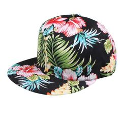 6eebe63d962e3 Outtop Girls Hip Hop Adjustable Snapback Hawaii Print Street Cap Hat  (Black). Style