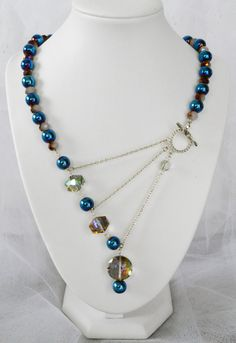 Peacock, Purple Jade, and Vitrail Prismatic Adrienne Adelle Signature Necklace