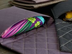 """MaiTai Collection single pochette for Hermes cashmere shawls/GMs (140 cm x 140 cm/ 55"""" x 55""""). Made in France."""