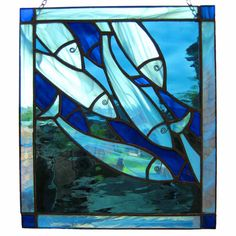 Shoal of Fish Stained Glass Panel £65.00