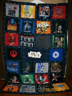 Star Wars T shirt quilt