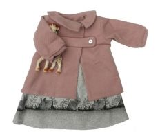 Baby Girl Fall Winter Outfit by Eponime (Rabbit Dress) via claradeparis.com