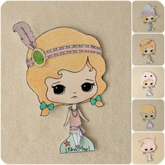 Gingermelon Dolls: A Special Gift Just for You!  ☀CQ #paperdolls #printables #templates #crafts #DIY