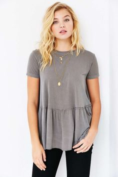 Truly Madly Deeply Dusty Road Peplum T-shirt