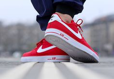 Nike Air Force 1 AC - University Red - White