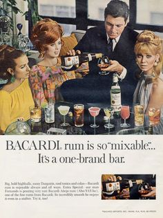 1967 Bacardi Rum Print Ad Mixable Cocktail Ladies by AdVintageCom
