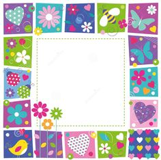 Find Cute Hearts Flowers Butterflies Border stock images in HD and millions of other royalty-free stock photos, illustrations and vectors in the Shutterstock collection. Borders For Paper, Borders And Frames, Cute Frames, Picture Frames, Image Frames, Diy And Crafts, Arts And Crafts, Paper Crafts, Molduras Vintage