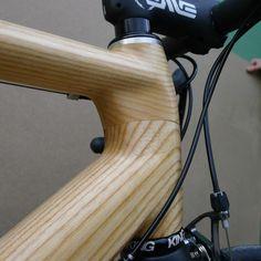 Wooden Bicycle, Wood Bike, Room Partition Designs, Wood Frame Construction, Bike Frame, Bike Parts, Bike Design, Custom Bikes, Woody