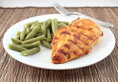 Grilled Mustard BBQ Chicken (Low Carb and Gluten Free) - Grill or oven bake -  8 net carbs (for the entire recipe)  / Living Low Carb One Day At A Time