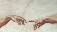 Hands of God and Adam Michelangelo Buonarroti Fresco, 1511 Vatican Museums and Galleries, Italy From The Creation of Adam, from the Sistine Ceiling