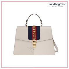 67249eeb0f65 Handbag Cleaning, Repair and Restoration by Handbag Clinic. Gucci  SylvieChain Shoulder BagWhite ...