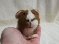 needle felted mini guinea pig by Mrs Plop