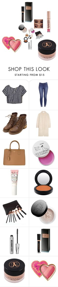 """Untitled #2910"" by fashionicon67 ❤ liked on Polyvore featuring Hollister Co., Chloé, Prada, Too Faced Cosmetics, MAC Cosmetics, Kat Von D, Bare Escentuals, M2BEAUTÉ, Anastasia Beverly Hills and Urban Decay"