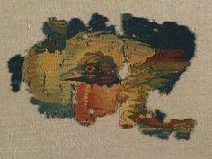 Duck's Head from a Large Curtain, 200s Egypt, Byzantine period, 4th Century tapestry weave: wool, Overall - h:17.20 w:24.15 cm (h:6 3/4 w:9 1/2 inches). John L. Severance Fund 1950.512