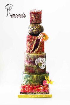 Wedding Cake Design By Purbaja B Chakraborty: Theme: Ultimate Texture by Purbaja B Chakraborty - http://cakesdecor.com/cakes/291240-wedding-cake-design-by-purbaja-b-chakraborty-theme-ultimate-texture