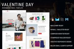 Valentine Day - Responsive Email Newsletter Template Valentine Day - Responsive email template is suitable for valentine, dating, love, wedding, Black Friday, Christmas, Cyber Monday, Thanks Giving Day, new year, e-commerce, shopping, fashion, life style, offers, discount, sales and general purpose. - Preview: Pennyblack Email Builder Preview: Stampready Builder Preview: - Valentine Day email template is compatible with StampReady, MailChimp , Campaign... Html Email Templates, Newsletter Templates, Valentine Special, Valentines Day, Online Email, Campaign Monitor, Responsive Email, Sales Letter, Email Client