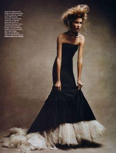 Solange Wilvert in Alexander McQueen, photographed by Patrick Demarchelier for Vogue UK