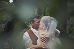 Kat Stanley Photography :: First kiss :: Love :: Moment :: Bride :: Groom :: Outdoor wedding :: Wedding photography :: Kiss the bride