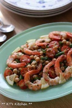 エビとひよこ豆、いんげんのディルサラダ|レシピブログ