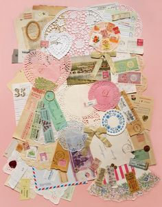 pink ribbon collage