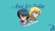 Handmade by Lissy Lou: Sailor Mercury & Zoisite Wallpaper - to download visit https://handmadelissylou.blogspot.com/2018/06/sailor-moon-crystal-wallpapers-set14.html