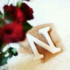 Rafik Alphabet Style, Alphabet Design, Name Letters, Letter N, Happy Emoticon, Stylish Letters, Stylish Alphabets, Hijab Dress Party, My Feelings For You