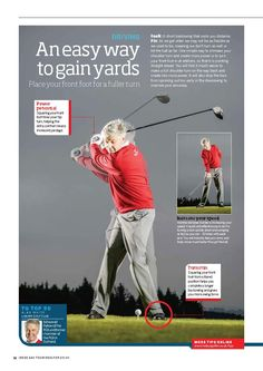 An easy way to gain yards off the tee #golf #tips #instruction #golfer #swing…