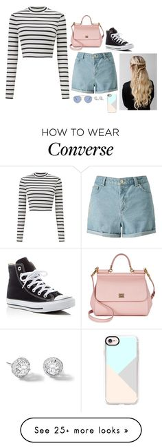 """Untitled #348"" by jaylaleigh on Polyvore featuring Miss Selfridge, Casetify, Converse, Dolce&Gabbana, Le Specs and Rivière"