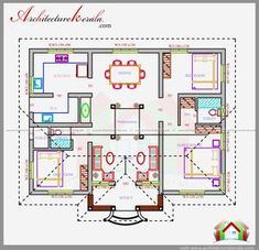 kerala house plans with estimate 20 lakhs 1500 sq ft house floor