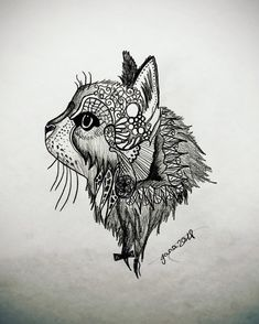 Draw, Tattoos, Cats, Animals, Tatuajes, Gatos, Animales, Animaux, To Draw