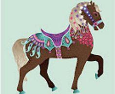 dibujo de caballos de tiovivo - Buscar con Google