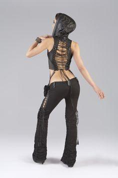 Horn Leather Vest, Diamondside Pants