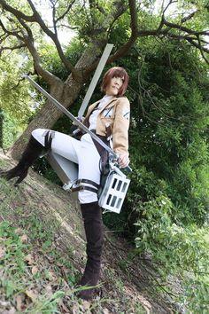#cosplay Shingeki No Kyojin :D