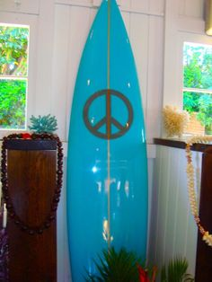 blue surfboard