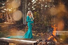 Krysten Gown - Boat Neck Slim Fit Maternity Gown with Long sleeves and a Droop back