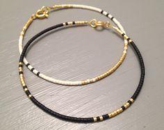 Bracelet élégant Bracelet Slim Dainty Dainty or bracelet or rempli bracelet or bijoux noir