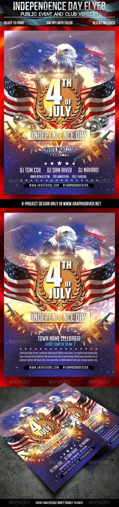 4Th Of July Independence Day Flyer | Flyer Template, Fonts And