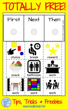 Free visual schedules Instructional Strategies for Autism PLUS a First-Then Chart FREE! Aba Therapy For Autism, Aba Therapy Activities, Autism Activities, Autism Resources, Speech Therapy, Sorting Activities, Sensory For Autism, Shape Activities, Sensory Therapy
