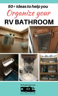 ideas for organizing and adding to tiny bathrooms in a or hacks camper RV Bathroom Storage & Organization Ideas and Accessories Organisation En Camping, Travel Trailer Organization, Travel Trailer Camping, Camping Organization, Storage Organization, Bathroom Organization, Camping Gear, Tent Camping, Camping Outdoors