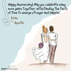 Happy Anniversary Wishes Images and Quotes. Send Anniversary Cards with Messages. Happy wedding anniversary wishes, happy birthday marriage anniversary Anniversary Quotes For Friends, Happy Wedding Anniversary Wishes, Anniversary Funny, Wedding Wishes, Birthday Wishes, Birthday Quotes, Anniversary Cards For Couple, Birthday Cards, Birthday Images