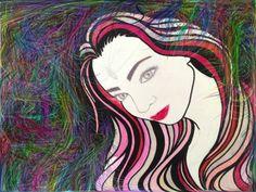 Portret van mijn dochter, bewerkt op de i pad...made by Sevdeger Ezersoz
