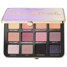 Too Faced White Peach Eye Shadow Palette, new for spring 2018 (affiliate)