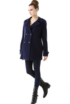 """Check out this great style for $79 on Luxury Lane. Click on the image above to get a coupon code for Momo Maternity """"Maddy"""" Wool Blend Pea Coat5 off on your next order. $79"""