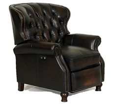 BarcaLounger Presidential Wing Recliner II - POWER - Chair - Stetson Coffee Top Grain Leather - Espresso top grain leather recliner Barrel back with button tufting Living Room Chairs, Living Room Furniture, Home Furniture, Online Furniture, Furniture Makeover, Living Area, Furniture Deals, Rustic Furniture, Barcalounger