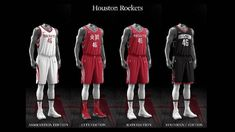 Houston Rockets uniform set, 2017-18